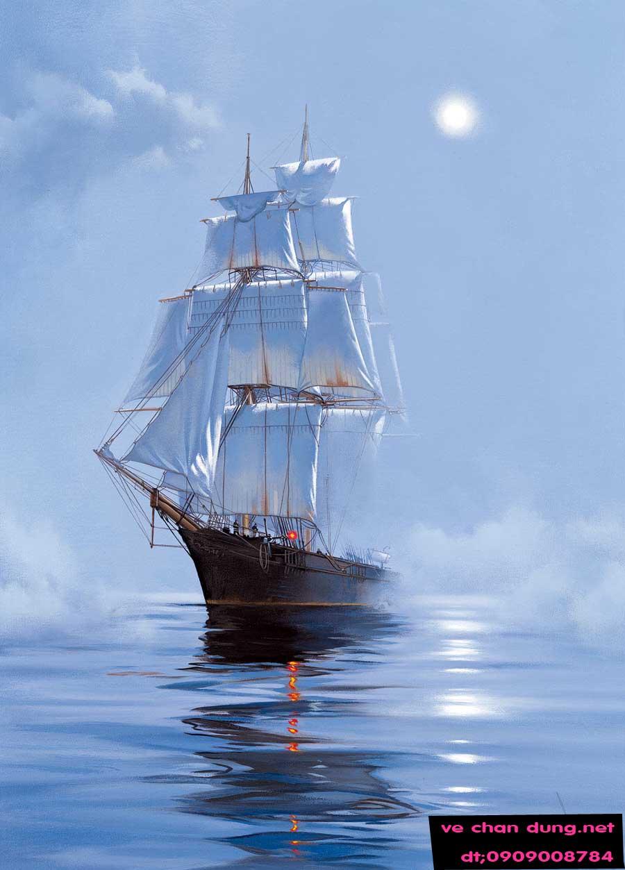 Để kích hoạt vận may trong kinh doanh, bạn hãy đặt một chiếc thuyểu buồm trên bứt tranh gần cửa ra vào sao cho chiếc thuyền di chuyển theo hưống đi vào bên trong văn phòng, công ty. Không nên để thuyể