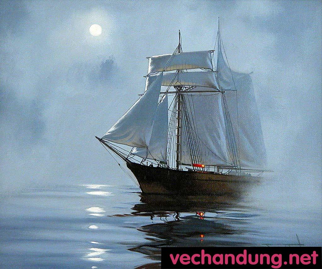 con thuyền binh yên 40x50