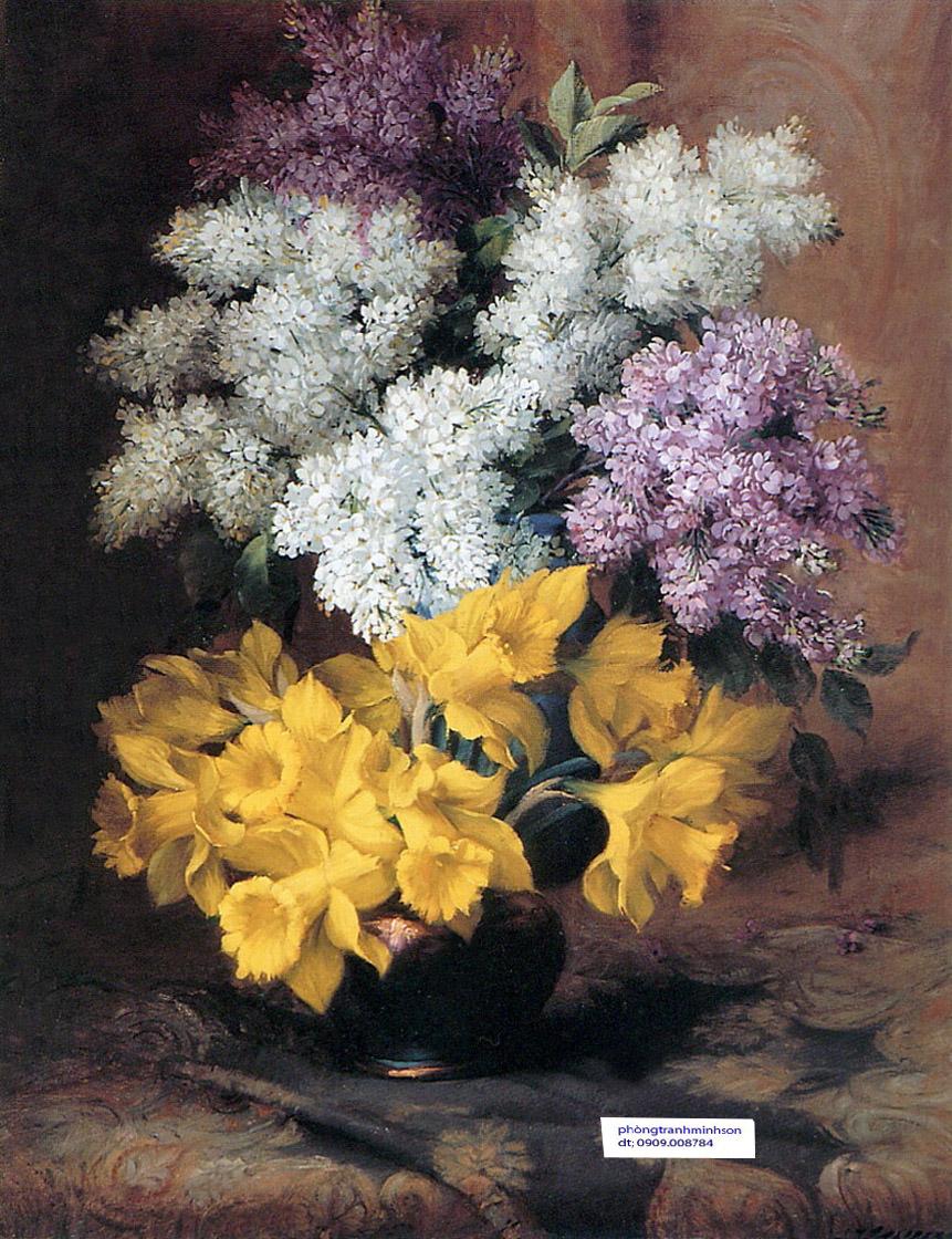 tranh hoa son dau 60x80