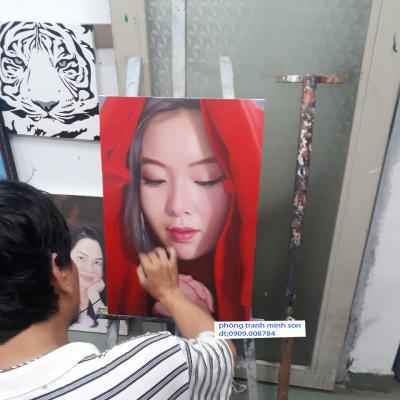 Quà tặng chị gái vẽ chân dung