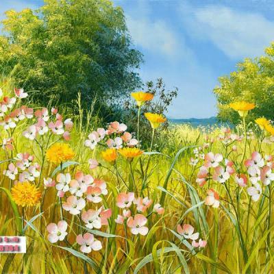 Tranh hoa sơn dầu 50x60