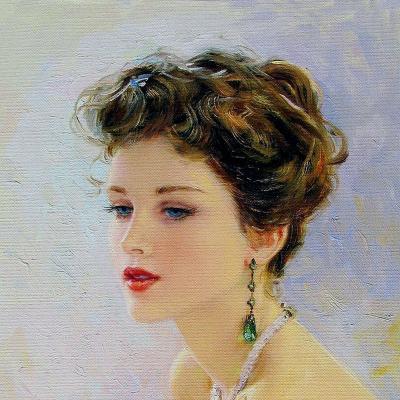 Quà tặng chị gái vẽ chân dung 60x80