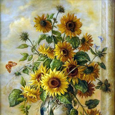 tranh vẽ hoa 60x80