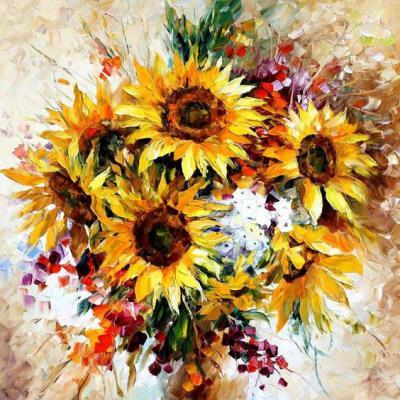 tranh vẽ hoa 50x60