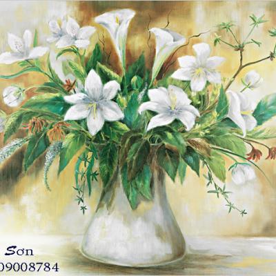 tranh vẽ hoa 40x50
