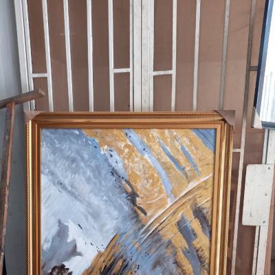 tranh trừu tượng sơn dầu