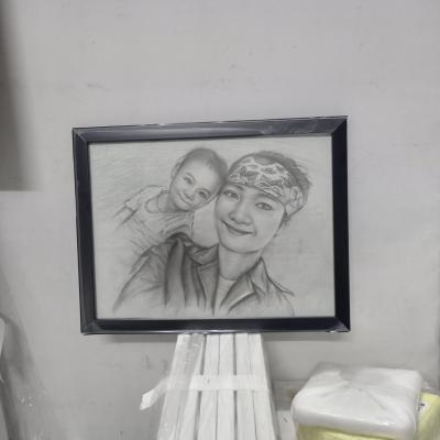Vẽ chân dung 2 chi em
