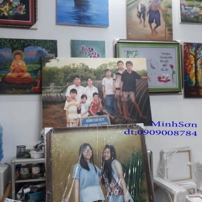 vẽ chân dung gia đình