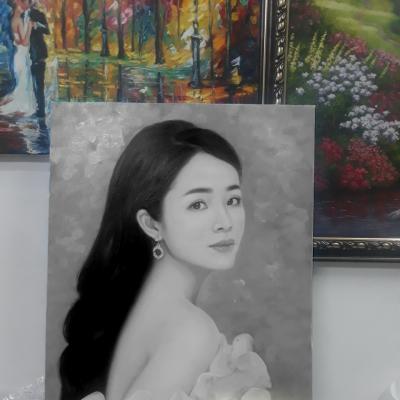 quà tặng vẽ chân dung sơn dầu