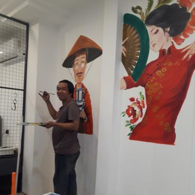 vẽ tranh tường trang trí