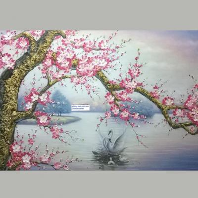 vẽ hoa đào