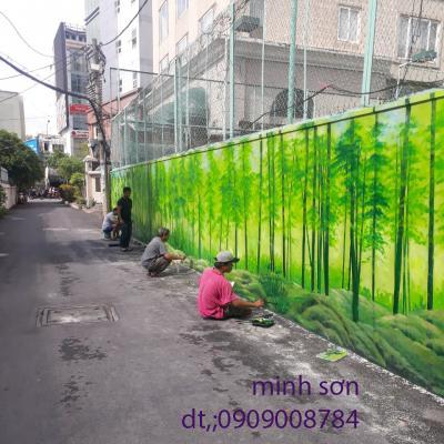 vẽ tranh tường ngoài trời