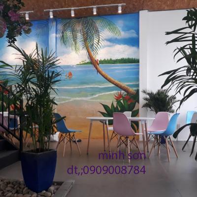 vẽ tranh quán cafe