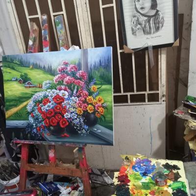 vẽ tranh hoa phong cảnh