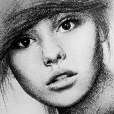 vẽ bút chì chân dung A3