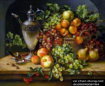 tranh trái cây tỉnh vật 70x90