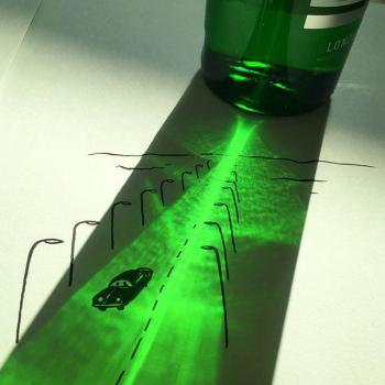 Hài hước những bức tranh vẽ từ… cái bóng