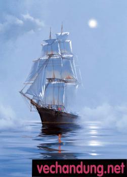 con thuyền binh yên 60x80