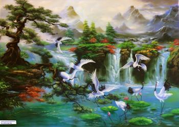 tùng hạc Bức tranh phong thủy \\'Tùng Hạc Diên Niên\\' biểu hiện cho sự thịnh vượng, trường thọ, có ý nghĩa rất tốt trong phong thủy. đặc biệt tốt cho những người tuổi Tỵ. Trong tranh gồm hình ảnh cây tùn
