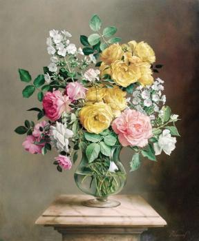 tranh hoa hồng 40x50